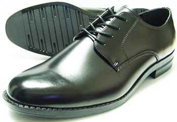 BRAVAS Lapel プレーントゥ ビジネスシューズ 黒 22cm(22.0cm)、22.5cm、23cm(23.0cm)、23.5cm、24cm(24.0cm)/小さいサイズ・メンズ・革靴・紳士靴