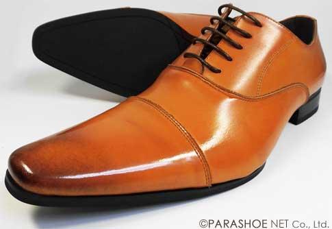 S-MAKE(エスメイク)本革 内羽根ストレートチップ(キャップトゥ) ビジネスシューズ 茶色(ライトブラウン)ワイズ(足幅)/3E(EEE) 23cm(23.0cm)、23.5cm、24cm(24.0cm) 【小さいサイズ(スモールサイズ)革靴・紳士靴】