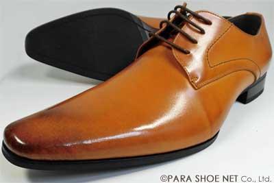 S-MAKE(エスメイク)本革 プレーントゥ ビジネスシューズ 茶色(ライトブラウン)ワイズ(足幅)/3E(EEE) 23cm(23.0cm)、23.5cm、24cm(24.0cm) 【小さいサイズ(スモールサイズ)革靴・紳士靴】