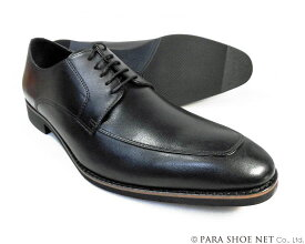 PARASHOE 本革 Uチップ ビジネスシューズ 黒 ワイズ 4E(EEEE)27.5cm、28cm(28.0cm)、28.5cm、29cm(29.0cm)、29.5cm、30cm(30.0cm)、31cm(31.0cm)、32cm(32.0cm)【大きいサイズ(ビッグサイズ)メンズ 革靴・紳士靴】