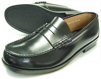 BRAVAS Lapel コインローファー 黒 3E(EEE)/メンズ・紳士靴・学生靴・通学靴