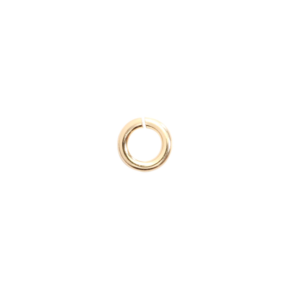 ★タイムセール20%OFF★ 【USA製】14KGFパーツ ゴールドフィルド 丸カン 0.6×3.0mm 1個