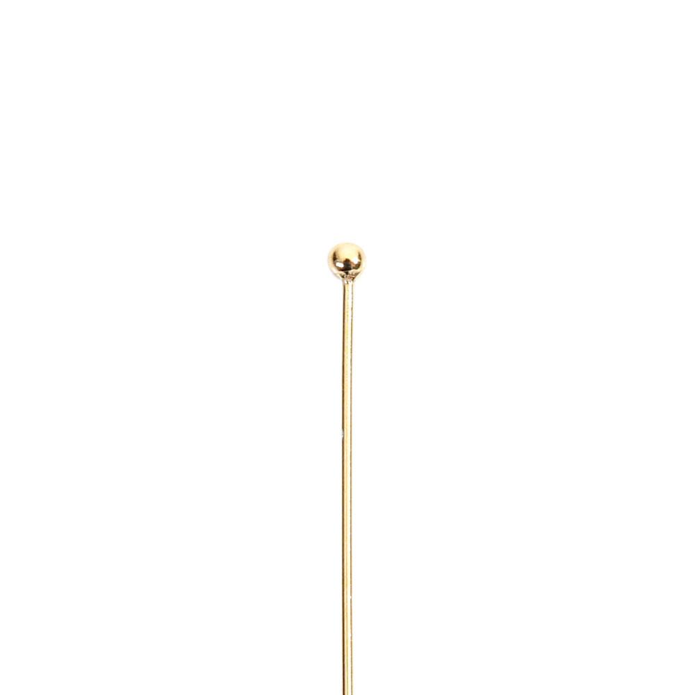 ★タイムセール20%OFF★ 【USA製】14KGFパーツ ゴールドフィルド 丸ピン 0.5×25.4mm 1本