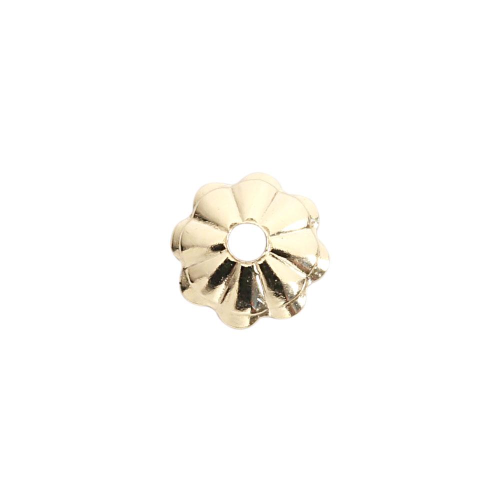 ★タイムセール20%OFF★ 【USA製】14KGFパーツ ゴールドフィルド 花座 4.0mm 1個