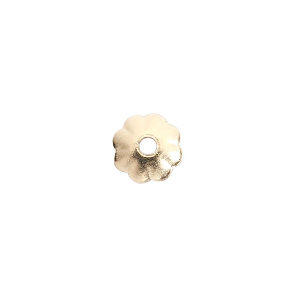 ★タイムセール20%OFF★ 【USA製】14KGFパーツ ゴールドフィルド 花座 3.0mm 1個