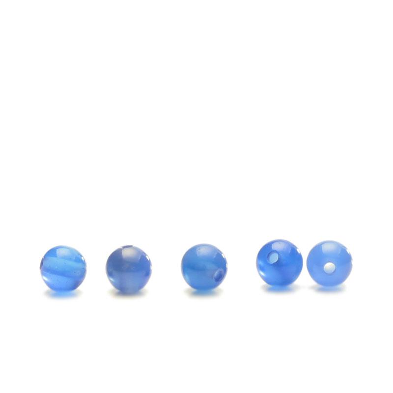 ★タイムセール20%OFF★ カルセドニー ブルー 4mm 5個