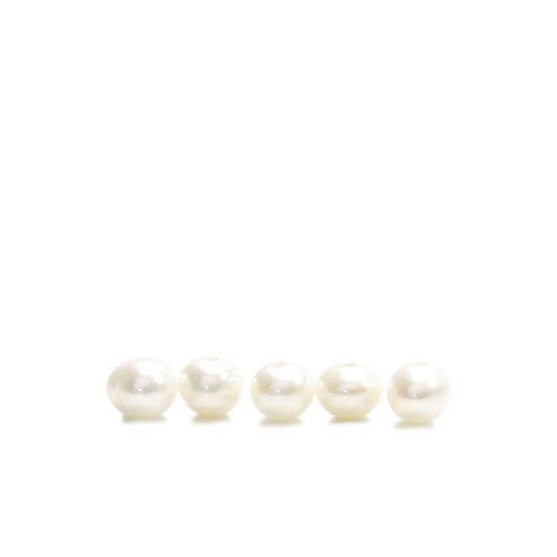 ★タイムセール20%OFF★ フレッシュウォーターパール(淡水真珠) ホワイト ラウンド 4mm 5個