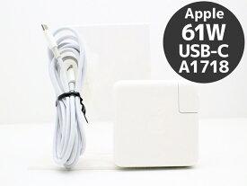 Apple 純正 61W Type-C ケーブル付き ACアダプタ 電源アダプタ A1718 USB USB-C【中古】【クリックポスト】【送料無料】【ポスト投函の為、日時指定不可】【代引き不可】