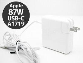 【クリックポスト】【送料無料】 Apple アップル 87W USB-C 電源アダプタ A1719 USB Type-Cケーブル付き【中古】【ポスト投函の為、日時指定不可】【代引き不可】