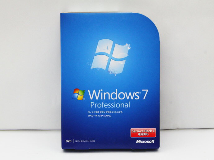 【中古】Microsoft Windows7 Professional SP1 通常版 OS マイクロソフト ウィンドウズ 32bit/ 64bit