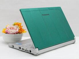 【中古】ノートパソコン Office付き Windows10 天板カスタマイズ Panasonic Let's note CF-NX3 CF-NX3JDGCS Core i5 4310U 2.0GHz メモリ 8GB 新品SSD 256GB グリーン Bランク Y2