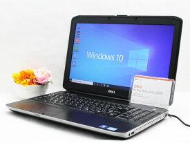 【中古】あす楽 Microsoft Office 2019付き 送料無料 ノートパソコン Windows10 DELL Latitude E5530 Core i3 3130M 2.6GHz メモリ4GB HDD 1TB DVD-ROM バッテリー完全消耗 Dランク 訳有特価 H7