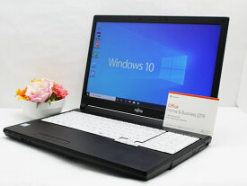 【中古】あす楽 Microsoft Office 2019付き 送料無料 ノートパソコン Windows10 富士通 LIFEBOOK A576/Pシリーズ Core i5 6300U 2.4GHz メモリ 8GB 新品SSD512GB DVD-RW Bランク F1