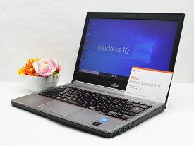 【中古】あす楽 送料無料 ノートパソコン Microsoft Office 2019付き Windows10 富士通 LIFEBOOK E734/Kシリーズ Celeron 2970M 2.2GHz メモリ 4GB HDD 500GB Cランク F7