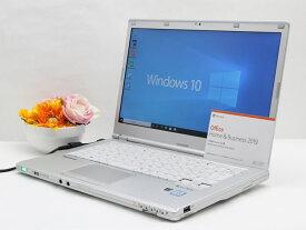 【中古】あす楽 WEBカメラ搭載 Microsoft Office 2019 付き 送料無料 ノートパソコン Windows10 Panasonic Let's note CF-LX5PDEVS 第6世代Core i5 メモリ 4GB SSD 128GB Bランク G4