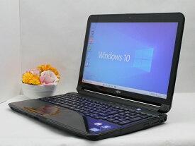 【中古】あす楽 送料無料 ノートパソコン Office付き Windows10 富士通 LIFEBOOK AH77/Gシリーズ Core i7 2670QM 2.2GHz メモリ 8GB HDD 750GB ブルーレイ Cランク J02