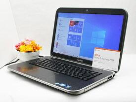 【中古】あす楽 Microsoft Office 2019付き 送料無料 ノートパソコン Windows10 DELL Inspiron 5520 Core i5 3210M 2.5GHz メモリ4GB 新品SSD256GB DVD-RW バッテリー完全消耗 Dランク 訳有特価 F14