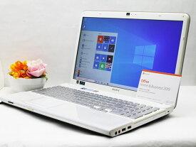 【中古】あす楽 WEBカメラ搭載 テレワークに最適 送料無料 ノートパソコン Microsoft Office 2019 付き Windows10 SONY VAIO Cシリーズ VPCCB1AFJ Core i5 2540M 2.6GHz メモリ 8GB 新品SSD256GB ブルーレイ Bランク Q14