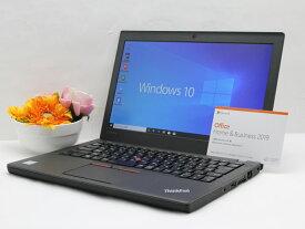 【中古】あす楽 WEBカメラ搭載 Microsoft Office2019 付き 送料無料 ノートパソコン Windows10 Lenovo ThinkPad X260 (20F5S0RN0G) Core i5 6200U 2.3GHz メモリ 8GB SSD128GB Cランク K13