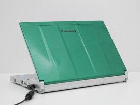 【中古】ノートパソコン Office付き Windows10 天板カスタマイズ Panasonic Let's note CF-NX3 CF-NX3JDGCS Core i5 4310U 2.0GHz メモリ 8GB 新品SSD 256GB グリーン Cランク Y2