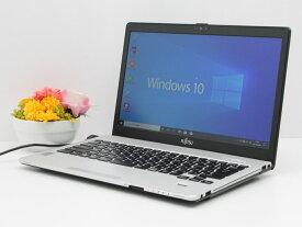 【中古】あす楽 送料無料 ノートパソコン Office付き Windows10 富士通 LIFEBOOK S935/Kシリーズ Core i5 5300U 2.3GHz メモリ 4GB 新品SSD256GB Cランク P3