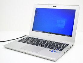 【中古】あす楽 WEBカメラ搭載 テレワークに最適 送料無料 ノートパソコン Microsoft Office付き Windows10 SONY VAIO Tシリーズ SVT1111AJ Core i5 3317U 1.7GHz メモリ 8GB 新品SSD256GB Bランク M17