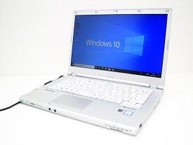 【中古】あす楽 WEBカメラ搭載 送料無料 ノートパソコン Office付き Windows10 Panasonic Let's note CF-LX5Q27VS Core i7 6600U 2.6GHz メモリ 16GB 新品SSD 512GB DVD-RW Cランク K1