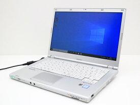 【中古】あす楽 WEBカメラ搭載 送料無料 ノートパソコン Office付き Windows10 Panasonic Let's note CF-LX5ADHVS Core i5 6300U 2.4GHz メモリ 4GB 新品SSD 256GB DVD-RAM 新品キーボード Bランク D31