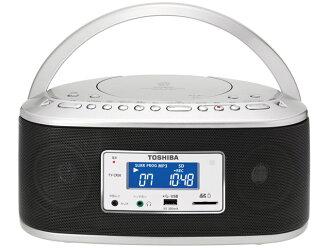 TOSHIBA Toshiba CD radio and cassette player CUTEBEAT TY-CK1(H) light gray