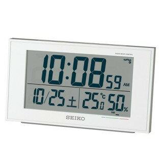 SEIKO CLOCK セイコークロック 目覚まし時計 温度表示 湿度表示 快適度表示 電波時計 SQ758W 【即納】【02P03Dec16】