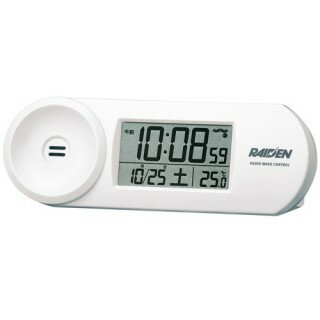 SEIKO CLOCK セイコークロック RAIDEN 大音量デジタル電波目覚まし時計 NR532W ホワイト 【即納】
