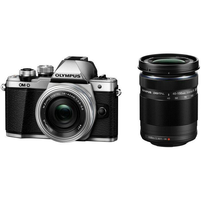 OLYMPUS オリンパス デジタル一眼レフカメラ OM-D E-M10 Mark II EZダブルズームキット シルバー 【送料無料】【02P03Dec16】