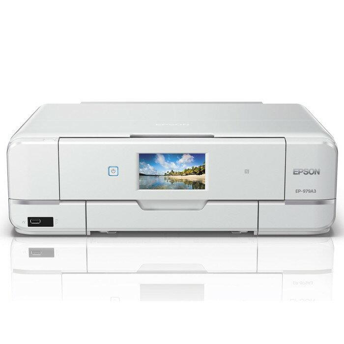 EPSON エプソン A3対応 インクジェットプリンター カラリオ EP-979A3 ホワイト【即納・送料無料】