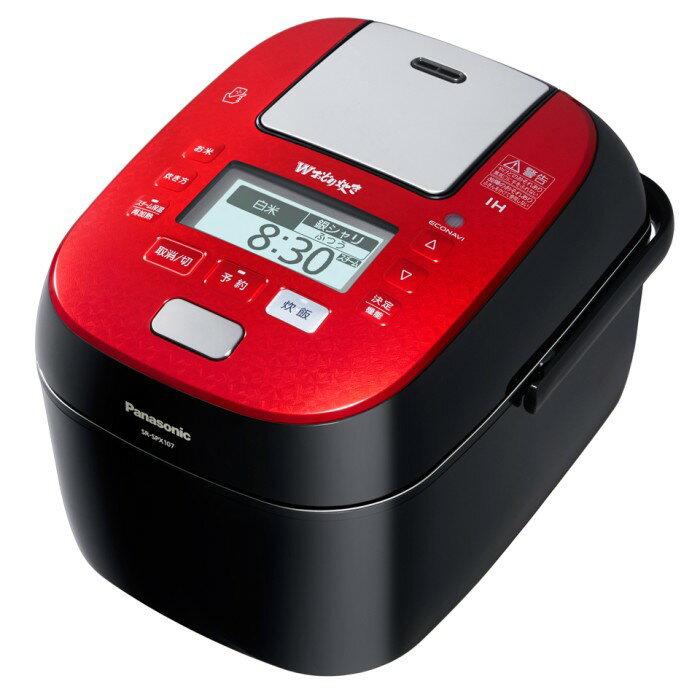 Panasonic スチーム&可変圧力IHジャー炊飯器 5.5合 SR-SPX107-RK ルージュブラック パナソニック 【即納・送料無料】