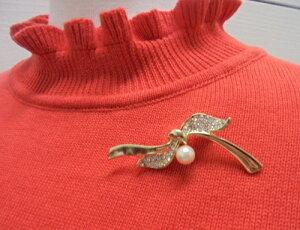 真珠ピンブローチ あこや本真珠リボンブローチ【通販】【楽ギフ_包装】【アコヤ真珠】【RCP】
