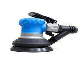 吸塵式エアーダブルアクションサンダー 超軽量タイプ プロ仕様 レギュレーター内臓 集塵式 丸型サンダー パッドサイズ 125mm 板金塗装工具 【60日安心保証付】