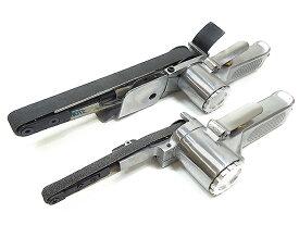エアベルトサンダー 10mm 20mm 2台セット 替えベルト付き 角度調整付き バリ取り スポット溶接剥がし 他社ベルト使用可能 板金塗装工具 【60日安心保証付】