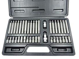 ビットセット トルクスビット 星型 花型 ヘックスビット ヘキサゴン 6角 トリプルスクエア 12角 ビットアダプター付 3/8 (9.5mm) 1/2 (12.7mm) ソケットセット 60日安心保証付