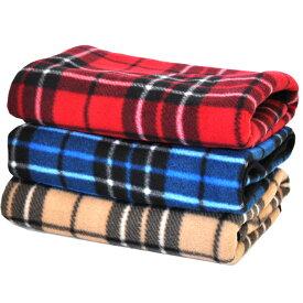 【8/10までポイントアップ中】ペット毛布 3枚セット50cm×70cm チェック柄 柄はおまかせ プチリュバン