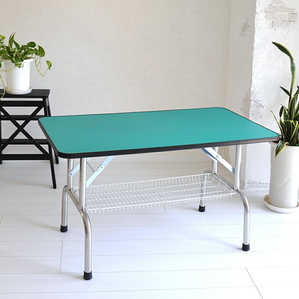 【1/20までポイント3倍】トリミングテーブル 超大型LLサイズ カゴ付 高さ65cm 110cm×60cm PVC 折畳機能付 送料無料