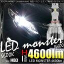 【前照灯】トヨタ ハリアー ZSU60/65 ハイビームライト対応LED MONSTER L4600 LEDハイビームバルブキット LEDカラー:ホワイト660...