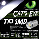 ☆T10 LED Cat's Eye Hyper 3528 SMDウェッジシングル球(キャッツアイ) LEDカラー:ホワイト7800K 1セット2個入 ポジションランプ/ライセンスランプ/カーテシランプ(3-B-5)