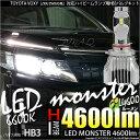 【前照灯】トヨタ ヴォクシー[ZRR/ZWR80系]ハイビームランプ用LED MONSTER L4600 LEDバルブキットLEDカラー:ホワイト6600K バルブ規格:HB3【5%OFFクーポン】