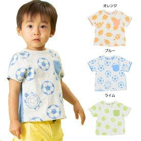 【セール50%OFF】【メール便OK】bit'z(ビッツ)3柄異素材切替えTシャツ【男の子】【80-120】【b207089】