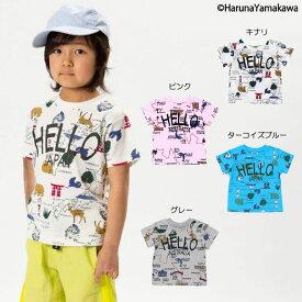 【セール30%OFF】【メール便OK】エフオーキッズ F.O.KIDS HARUNAYAMAKAWAコラボ地図柄Tシャツ【男の子】【80-140】【r307139】
