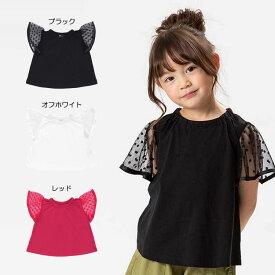 【セール50%OFF】【メール便OK】seraph(セラフ)切替デザインTシャツ【女の子】【80-140】【s307039】