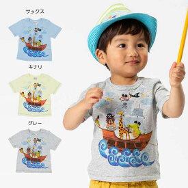 【セール40%OFF】【メール便送料無料】bit'z(ビッツ)海賊プリントTシャツ【男の子】【80-120】【b307029】