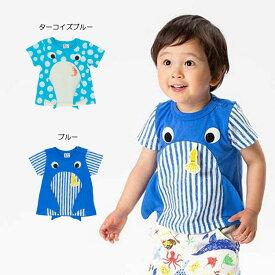 【セール50%OFF】【メール便OK】bit'z(ビッツ)2柄なりきりTシャツ【男の子】【80-120】【b307069】