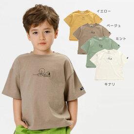 【セール50%OFF】【メール便OK】F.O.KIDS(エフオーキッズ)PEANUTSコラボ Tシャツ【男の子】【スヌーピー】【80-140】【r307031】