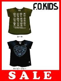 【セール50%OFF】[メール便送料無料]エフオーキッズ F.O.KIDS インディゴガールズTシャツ